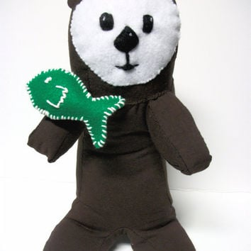 Sea Otter Stuffed Animal Ecofriendly Karena by RopeSwingStudio