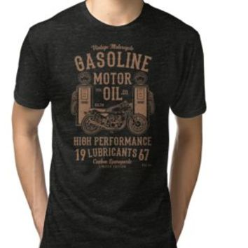 'VINTAGE MOTORCYCLE' Tailliertes Rundhals-Shirt by Super3