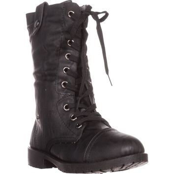 Wanted Colorado Knit Combat Boots, Black, 9 US / 40 EU