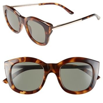 Women's Le Specs 'Runaways Luxe' 50mm Cat Eye Sunglasses - Milky Tortoise