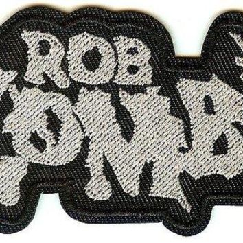 Rob Zombie Iron-On Patch Gray Letters Logo