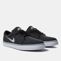 Nike Sb Satire Canvas Shoes - Black/metallic Silver at Urban Industry