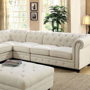Stanford II Sofa Chair, Ivory Fabric | Overstock.com Shopping - The Best Deals on Sofas & Loveseats