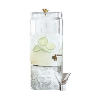 Bergen Glass and Brass Beverage Dispenser