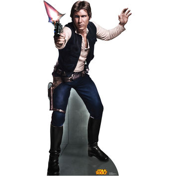 Han Solo Retouched Cardboard Standup