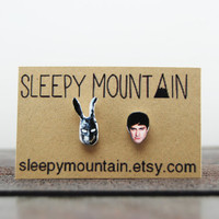 Donnie Darko Earrings - Film Face Earrings by Sleepy Mountain