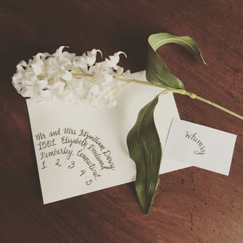 Calligraphy/Hand Lettering for Wedding Invitation Envelopes