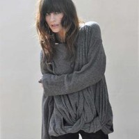 Bodkin Dark Heather Grey Braided Caos Sweater