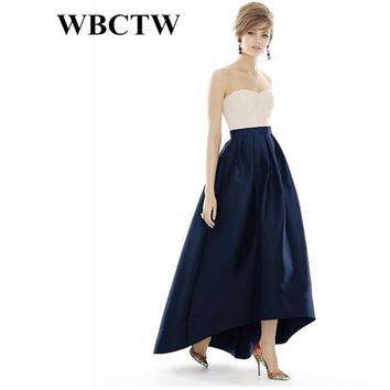 Long Pleated Skirts High Waist England Style Solid Women Skirt 6XL 7XL Large Size 2018  Beautiful Outfit Holiday Party Skirt