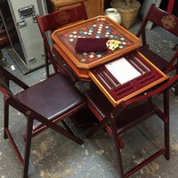 Used Franklin Mint Scrabble The Collectors Edition Table and Chair Set for sale in Palos Hills - letgo