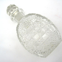 Vintage Cut Glass or Crystal Decanter Bottle