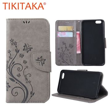 Phone Cases For Apple iphone 7 7 Plus Funda Coque Print Flower Leather Flip Stand Wallet Cover With lanyard Card Slot Money Bags