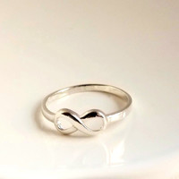 Sterling Silver Infinity Ring, US Size 7 Ring Infinity Silver Knot, Eternity Ring, Forever Ring, Love Ring Friendship