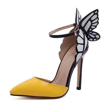 DCCKI2G Butterfly wing fashion high heels