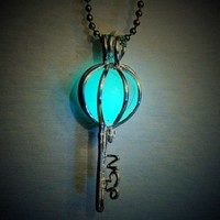 Key To My Heart Glow in the Dark Statement Necklace