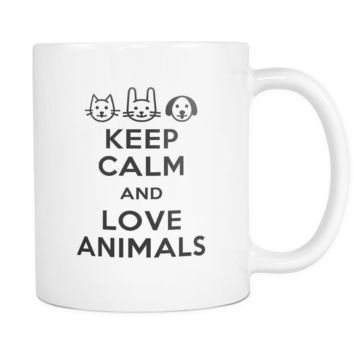 Veterinary Mug - Keep calm and Love animals