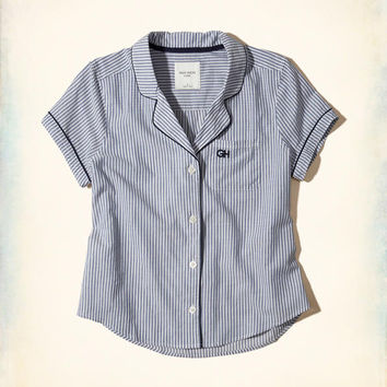 Gilly Hicks Poplin Sleep Shirt | Gilly Hicks New Arrivals | HollisterCo.com