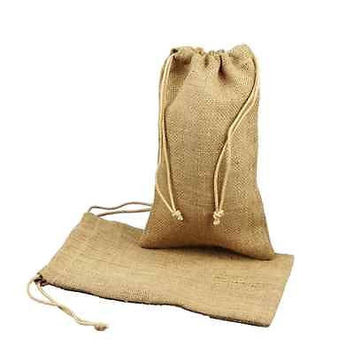 Burlap Favor Bags with Drawstrings, 12-pack, 5-inch x 7-inch