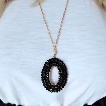 Set Me Free Necklace: Gold/Black
