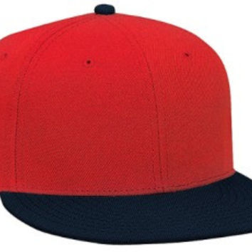 Otto Cap 125-978 - Wool Blend Snapback (Nvy/Red/Red)
