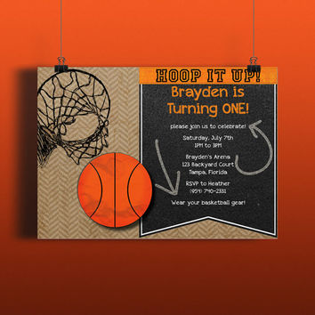 Instant Download-Basketball Sports Hoops Court Athlete DIY Printable Birthday Party Baby Shower Wedding Bridal Invitation Template