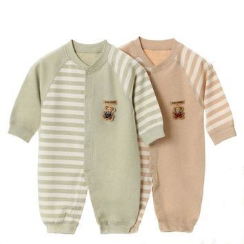 Baby Rompers Long Sleeve Baby Girl Clothing Jumpsuits Children Autumn Organic Cotton Clothing Set Newborn Baby Clothes YJM101
