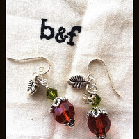 Sterling Pumpkin Earrings