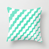 Mint Sideways Throw Pillow by Bree Madden