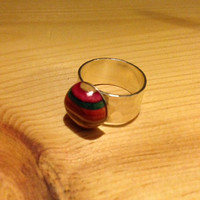 Recycled Skateboard Ring Adjustable