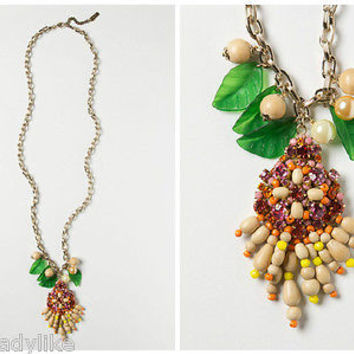 NWT Anthropologie Rambutan Necklace - By Rada - Italy - Retailed for $268