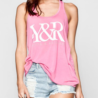 Young & Reckless Core Womens Tank Pink  In Sizes