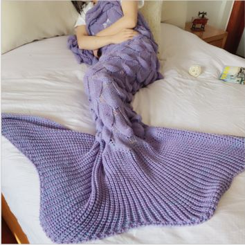 Mermaid Party to Be Adored Blanket Scales shape Christmas Gift Purple