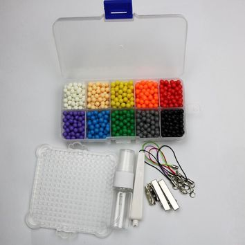 1600pcs/set Aqua beads toys sticky perler beads pegboard set Magic Beads jigsaw puzzle Water beadbond educational toys diy kids