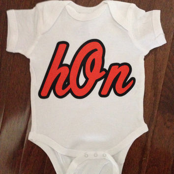 Baltimore Hon Onesuit | Baltimore Hon | Baltimore Baby Clothes | Baltimore Baby Clothing | Orioles Baby | Orioles Baby Clothes | Bodysuits