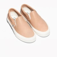 & Other Stories | Vans Leather Slip-On Shoes | Beige