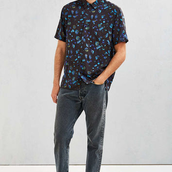 UO Owen Stones Rayon Short-Sleeve Button-Down Shirt - Urban Outfitters