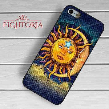 Vintage moon and sun phone case -snw for iPhone 6S case, iPhone 5s case, iPhone 6 case, iPhone 4S, Samsung S6 Edge