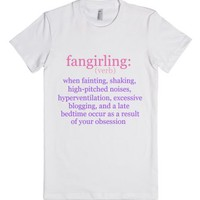 Fangirling-Female White T-Shirt