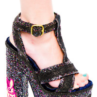 Irregular Choice Toffee Splatter Platform Heels