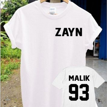 【ZAYN】 【MALIK 93】 text Funny Funny short-sleeved shirt