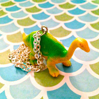 Brontosaurus Dinosaur Necklace