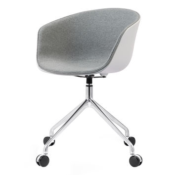 M26 Scandinavian Style Office Chair in Grey, White Shell