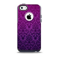 The Purple Delicate Foliage Pattern Skin for the iPhone 5c OtterBox Commuter Case