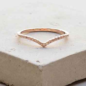 V Ring   Rose Gold