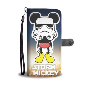 KUYOU Storm Mickey Disney Mickey Star Wars Stormtrooper Wallet Phone Case