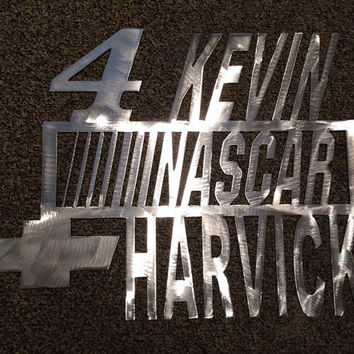 Kevin Harvick Nascar Metal Wall Art