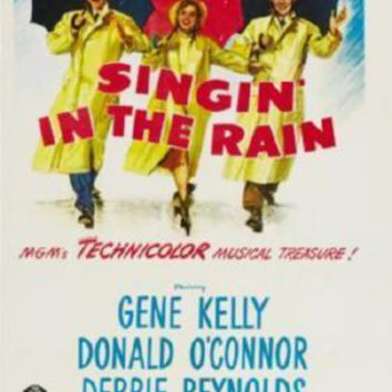 Singin In The Rain Movie poster Metal Sign Wall Art 8in x 12in