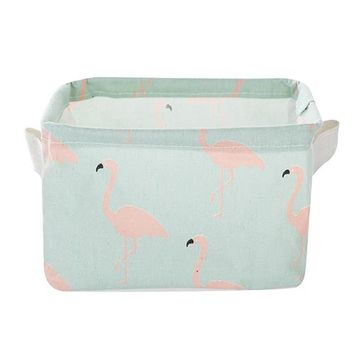 Organizers / Bags - Free Shipping - Cute Canvas Storage Bins / Collapsible - Flamingo (1)