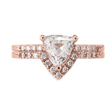 Triangle Diamond Rose Gold Ring