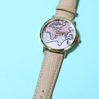 Wanderlust Watch - Taupe